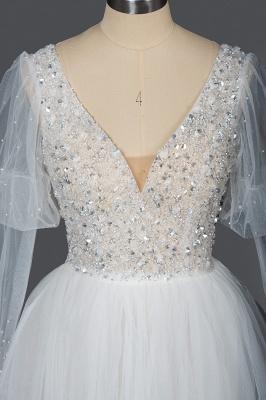 Designer Hochzeitskleider A Linie | Brautkleider Mit Ärmel_7