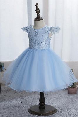 Simple flower girl dress blue | Children's dresses for flower girls_3