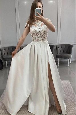Schöne Abendkleider Lang Weiß | Abendmoden Online_2