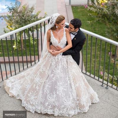 Elegante Brautkleider A Linie Spitze | Hochzeitskleider Online Kaufen_2