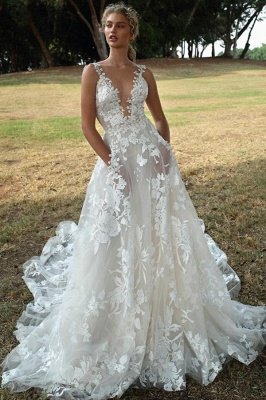 Gorgeous Wedding Dresses A Line Lace | Wedding dresses boho