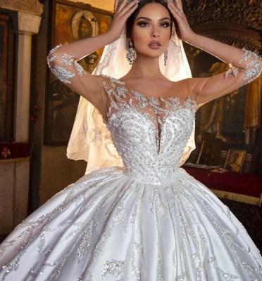 Extravagante Hochzeitskleider Prinzessin | Brautkleider Mit Ärmel_6