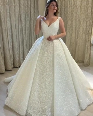 Schöne Brautkleider Prinzessin Online | Hochzeitskleider mit Spitze_1