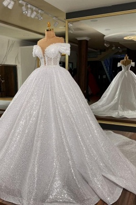 Elegant wedding dresses glitter princess | Wedding dresses cheap online