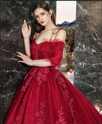 Gorgeous evening dresses with lace | Prom dresses prom dresses red_5