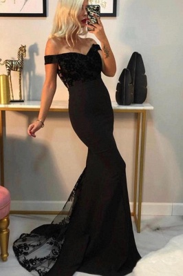 Evening dress long black | Prom dresses with lace