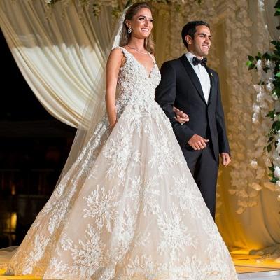Elegante Brautkleider A Linie Spitze | Hochzeitskleider Online Kaufen_4