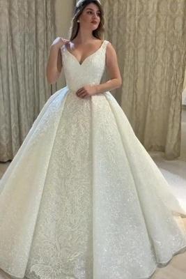Schöne Brautkleider Prinzessin Online | Hochzeitskleider mit Spitze_2