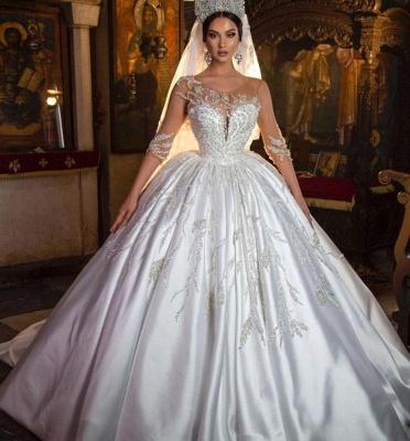 Extravagante Hochzeitskleider Prinzessin | Brautkleider Mit Ärmel_2