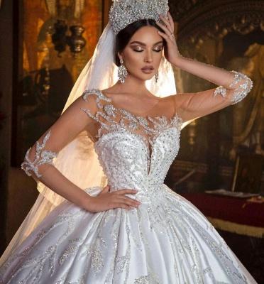 Extravagante Hochzeitskleider Prinzessin | Brautkleider Mit Ärmel_5