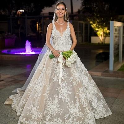 Elegante Brautkleider A Linie Spitze | Hochzeitskleider Online Kaufen_3