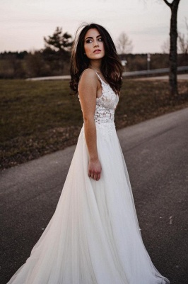 Simple wedding dresses A line lace | Wedding dresses tulle