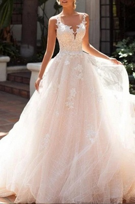 Chic wedding dresses A line | Wedding dresses lace cheap