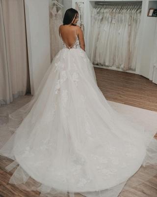 Elegante Brautkleider Tüll | Hochzeitskleider A Linie Spitze_3
