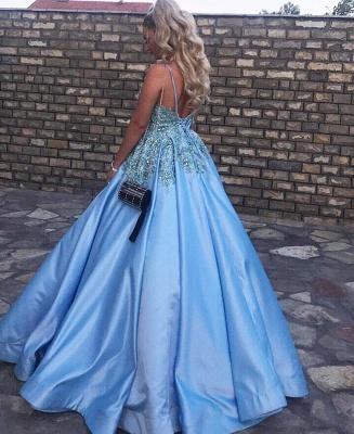 Abendkleider Lang Blau | Ballkleider Prinzessin_3