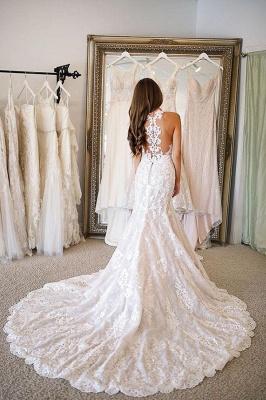 Elegante Hochzeitskleider Meerjungfrau Spitze   Brautkleider Online Kaufen_3