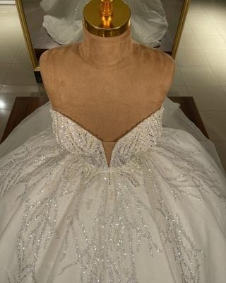Extravagnate Brautkleider Online | Hochzeitskleider Glitzer Prinzessin_3
