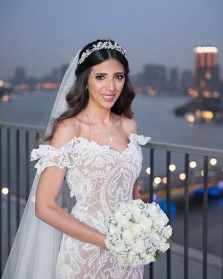 Beautiful mermaid lace mermaid dresses | Cheap Wedding Dresses Online_4
