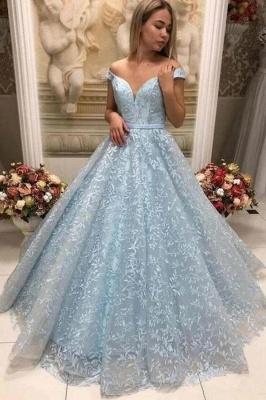 Prom dresses long blue | Evening dresses lace cheap_1