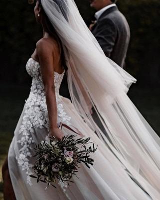 Elegante Hochzeitskleider Boho | Brautkleider A Linie Spitze_2