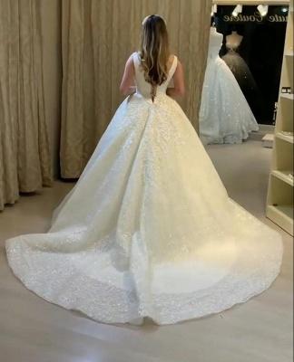 Schöne Brautkleider Prinzessin Online | Hochzeitskleider mit Spitze_3