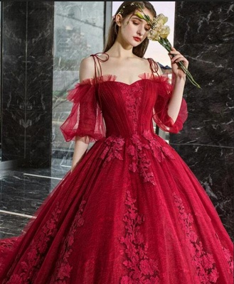 Gorgeous evening dresses with lace | Prom dresses prom dresses red_4