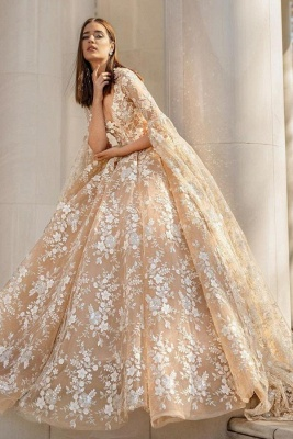 Beautiful wedding dresses princess | Lace wedding dresses with sleeves_1