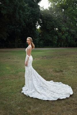Schicke Brautkleider Mit Ärmel | Hochzeitskleider Meerjungfrau Spitze_3