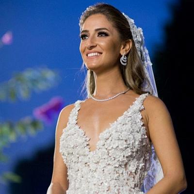 Elegante Brautkleider A Linie Spitze | Hochzeitskleider Online Kaufen_5