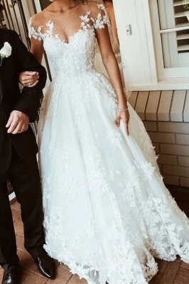 Wedding dresses with lace | Wedding dresses a line with sleeves