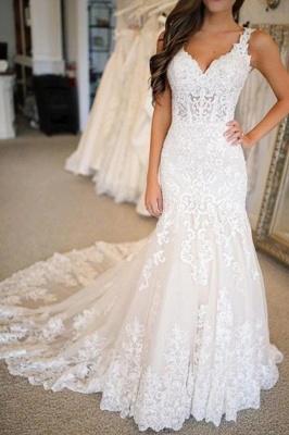 Elegante Hochzeitskleider Meerjungfrau Spitze   Brautkleider Online Kaufen_2
