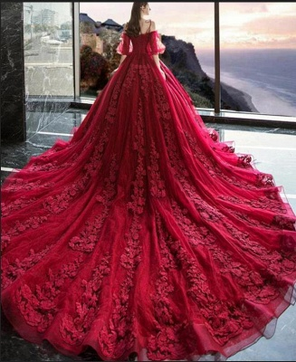 Gorgeous evening dresses with lace | Prom dresses prom dresses red_3