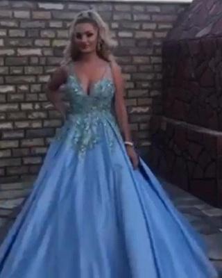 Evening dresses long blue | Ball gowns princess_2