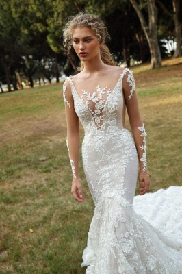 Chic wedding dresses with sleeves | Wedding dresses mermaid lace