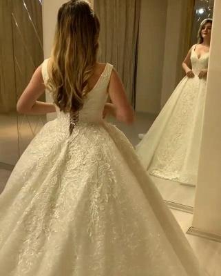Schöne Brautkleider Prinzessin Online | Hochzeitskleider mit Spitze_5