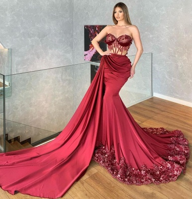Prom dresses long red | Evening dresses with lace cheap_2