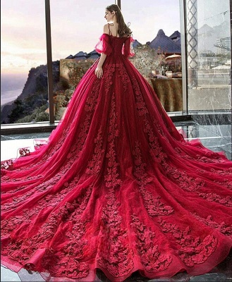 Gorgeous evening dresses with lace | Prom dresses prom dresses red_6