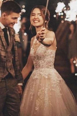 Gorgeous Wedding Dress A Line Lace | Wedding dresses tulle_4