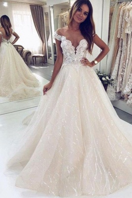 Wedding dresses glitter | Wedding dresses A line lace