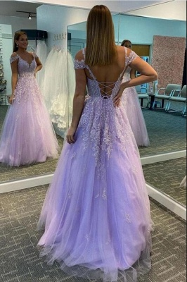 Beautiful evening dresses with lace | Prom dresses long cheap_1