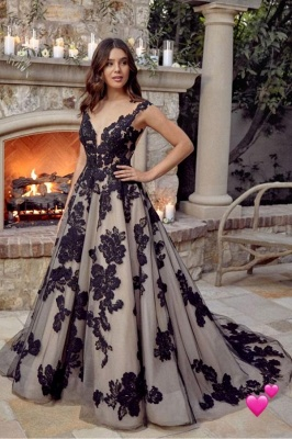 Black Wedding Dresses A Line Lace | Buy cheap wedding dresses