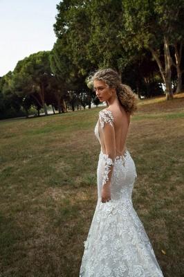 Schicke Brautkleider Mit Ärmel | Hochzeitskleider Meerjungfrau Spitze_4