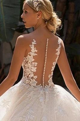 Schicke Brautkleider A Linie | Hochzeitskleider Spitze Günstig_5