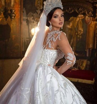 Extravagante Hochzeitskleider Prinzessin | Brautkleider Mit Ärmel_4