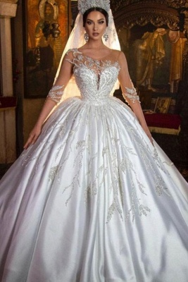 Extravagant wedding dresses princess | Wedding dresses with sleeves