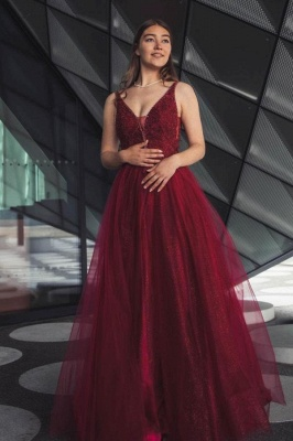 Wine red evening dresses long | Prom dresses cheap