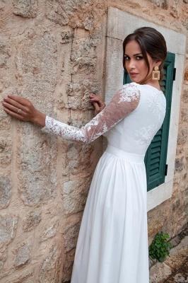 Schlichtes Brautkleider Mit Ärmel | Hochzeitskleider mit Spitze_3