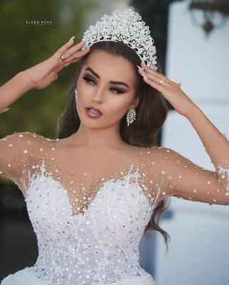 Luxus Brautkleider Mit Ärmel | Prinzessin Hochzeitskleider Glitzer_6