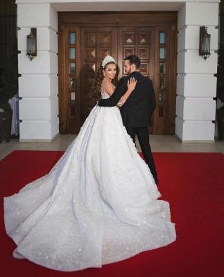 Luxus Brautkleider Mit Ärmel | Prinzessin Hochzeitskleider Glitzer_3