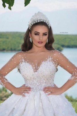 Luxury wedding dresses with sleeves | Princess wedding dresses glitter